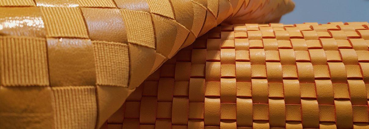 Intrecci di cuoio tono giallo